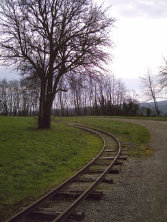 Military railroad at the Fort de Villey-le-Sec.