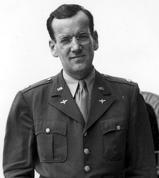 Glenn Miller, a major in the U.S. Army Air Forces during World War II, led a 50-piece military band that specialized in Swing music