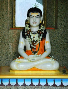 A sculpture of Gorakhnath, a celebrated yogi of Nath tradition and a major proponent of Hatha yoga.[34]