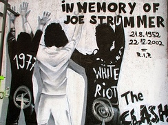 Graffiti commemorating Joe Strummer