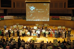 The 2008 Green Party National Convention held in Chicago. Various third parties also hold their own national conventions.