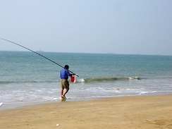 Located in Sanya, this beach is typical of those along the entire eastern coast of Hainan