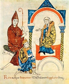 Henry IV requests mediation from Matilda of Tuscany and abbot Hugh of Cluny.[why?]