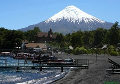 Osorno volcano in Chile is an example of a well-developed stratocone.