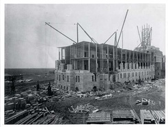 The Saskatchewan Legislative Building under construction in 1908. Work on the legislative building began three years after Regina was named the province's capital, in 1905.
