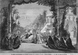 Press illustration of the last scene - the Death of Didon (1863). Set designer: Philippe Chaperon