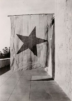 This Red Lone Star Flag is a survivor of the Alvarado coup of 1836.