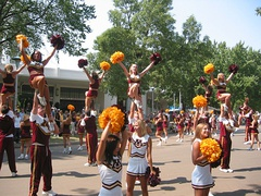 Golden Gopher Spirit Squads during the Maroon and Gold Day Parade in 2003