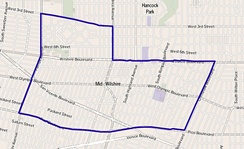 Map of Mid-Wilshire, Los Angeles.(as delineated by the Los Angeles Times)