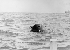A German contact mine laid in Australian waters during World War II