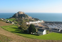 Mont Orgueil was built in the 13th century after its split from Normandy.