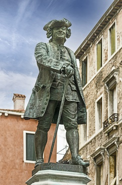Monument to Goldoni in Venice (sculpted by Antonio Dal Zotto)