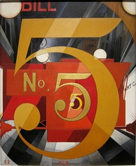 Charles Demuth, I Saw the Figure 5 in Gold 1928,  collection of the Metropolitan Museum of Art, New York City