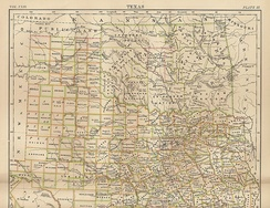Map of Indian Territory (Oklahoma) 1889. Britannica 9th ed.