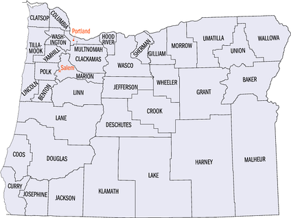 Click on a county to go to a list of National Register sites there.