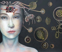 Parasites by Katrin Alvarez. Oil on canvas, 2011