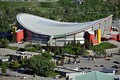 The Scotiabank Saddledome arena has a hyperbolic paraboloid saddle roof, Calgary, Canada, 1983.