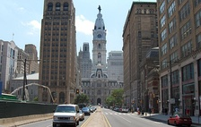 North Broad Street, looking towards City Hall