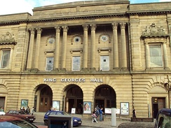 "King George's Hall, Blackburn, the venue in which Ferrier made several youthful appearances as an accompanist at ""celebrity"" concerts"