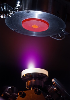 Laser deposition of alumina on a substrate