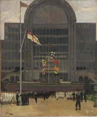 RNVR at the Crystal Palace, 1917. Painting by John Lavery