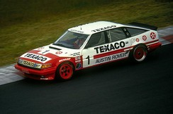 The Rover SD1 of Tom Walkinshaw and Win Percy at the Nürburgring in 1985.