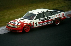 The Rover Vitesse of Tom Walkinshaw and Win Percy at the Nürburgring in 1985.