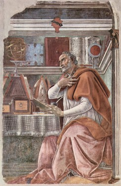 Augustine of Hippo (354–430), Christian theologian. His writing on free will and original sin remains influential in Western Christendom.