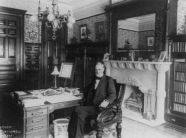 Sherman in his Senate office, about 1894