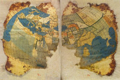 The world map from Codex Seragliensis 57, done according to Ptolemy's 2nd projection