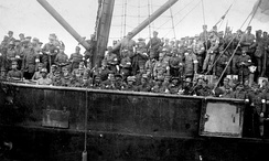 Men of the Swedish Brigade returning to Sweden in 1918