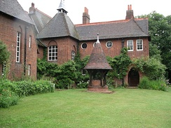 William Morris's Red House in London designed by Philip Webb. Completed 1860, it is one of the most significant buildings of the Arts and Crafts Movement.[22]