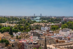 Skyline of Seville from the top of the Giralda