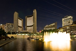 Toronto City Hall acts as the seat of the municipal government of Toronto.