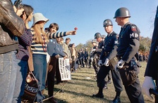 A group of Flower Power demonstrators, 1967