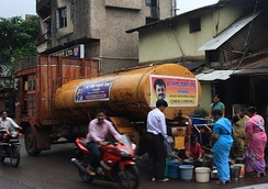 Water from taps - supplied by a truck