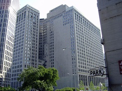 The First National Building, a class-A office center in Downtown, within the Detroit Financial District.