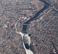 Aerial view of Merrimack River and Lawrence, 2010