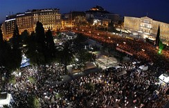 Austerity protest in Athens, 2011