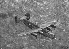 A B-24 Bomber flying over China during WW2.