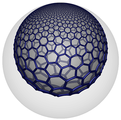 The hexagonal tiling honeycomb, {6,3,3}, has hexagonal tiling, {6,3}, facets with vertices on a horosphere. One such facet is shown in as seen in this Poincaré disk model.