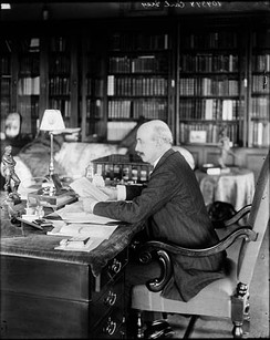Governor General the Earl Grey in the governor general's study of Rideau Hall, 1909