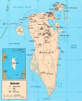 Карта Бахрейна