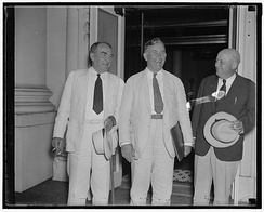 (L-R): House Speaker William Bankhead, Senate Majority Leader Alben Barkley, and House Majority Leader Sam Rayburn