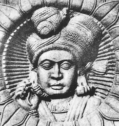 Man on a relief, Bharhut, Shunga period.