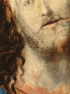 A close up reveals Dürer's highly detailed preparatory drawing
