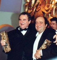 Daniel Prévost (left), Best Supporting Actor winner and Jacques Villeret, Best Actor winner