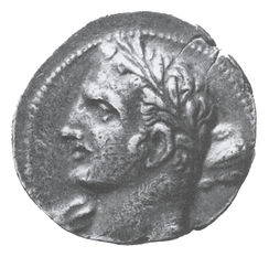 A Carthaginian coin possibly depicting Hannibal as Hercules (i.e. Heracles)