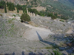 The ancient theater at Delphi, Greece