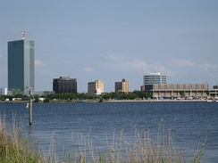 Downtown Lake Charles, with Capital One Tower to the left